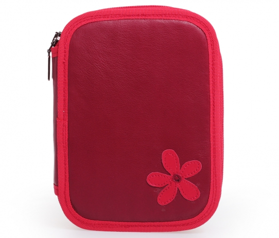 Double Pencil Case With Flower