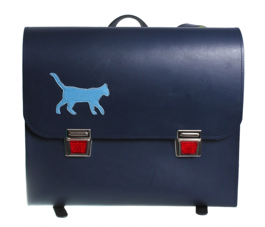 Blue Satchel + Inside Pockets + Application