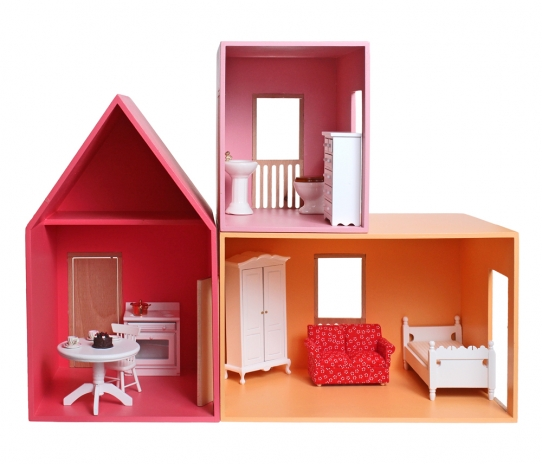 Dollhouse 3 parts, furnished