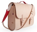 Shoulder bag from natural leather