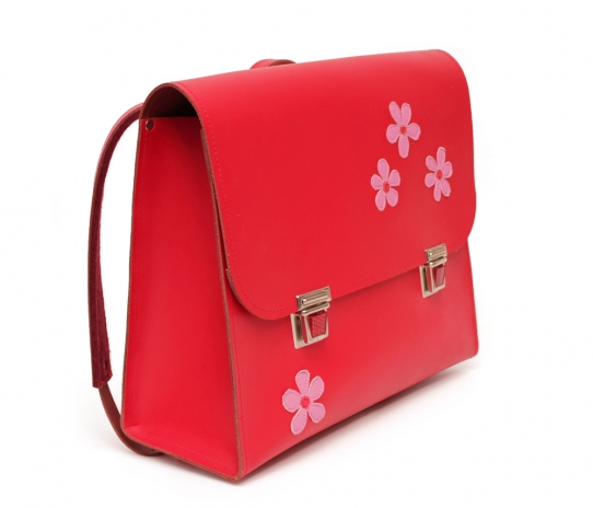 Satchel with flower