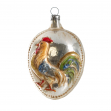 Christmas ornament with cock
