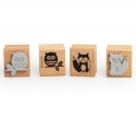 Fox and Owl Stamp